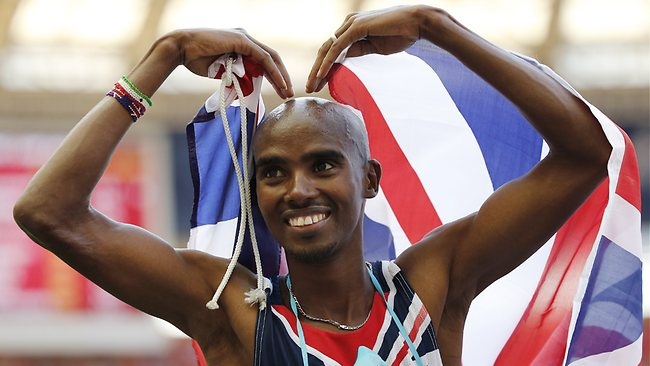 Somalia-born Mo Farah moved to England aged 8 to live with his British father.