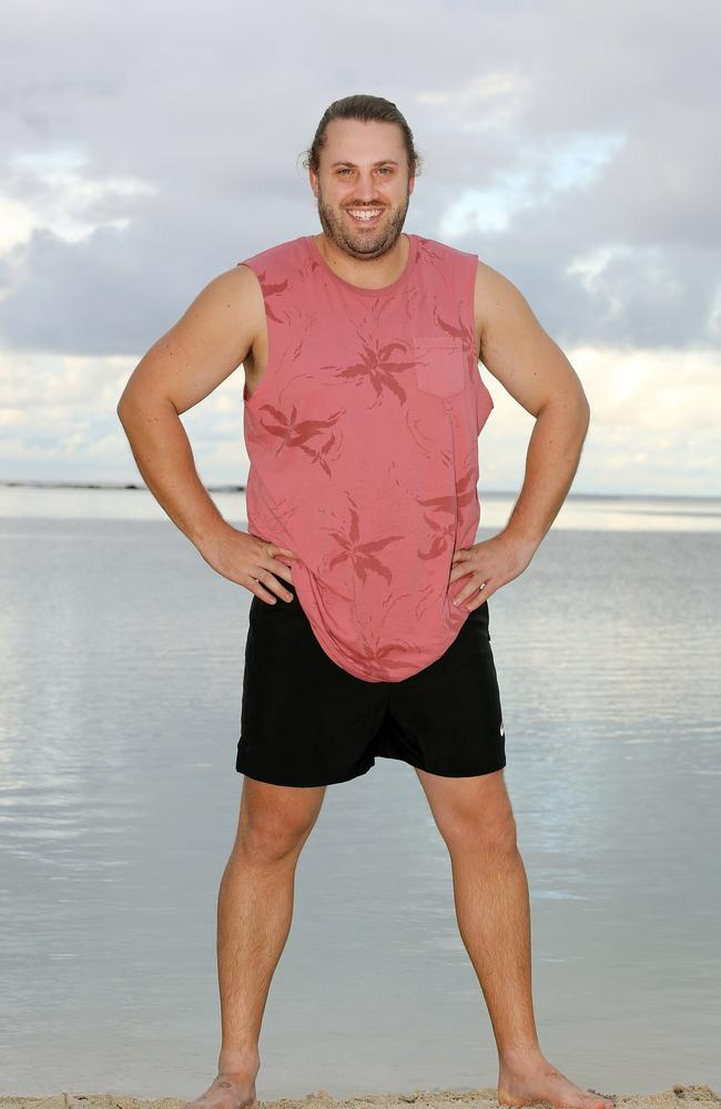 Aaron Kight, from the cast of Australian Survivor. Picture: Nigel Wright.