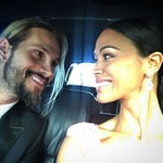 "Zoe Saldana with Marco Perego ... ""Golden Globes bound... with you!"" Picture: Instagram"