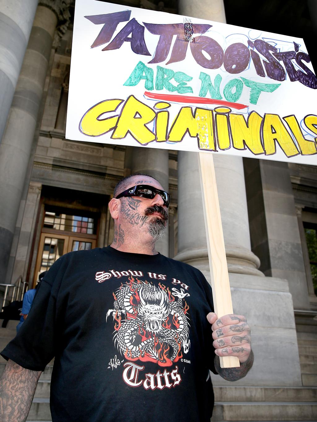 Tattoo parlour owners protest against new laws banning for New tattoo laws