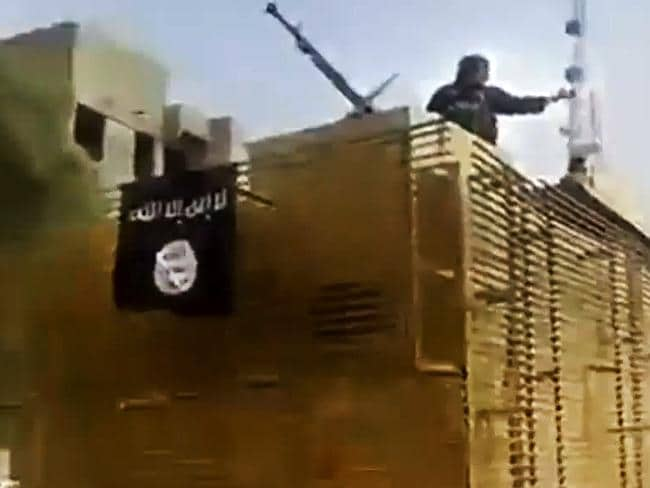 Gaining power ... footage from an ISIS militant social media account, which has been auth