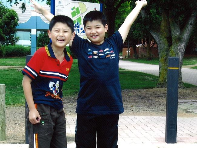 The Lin brothers Terry, 9, and Henry, 12, two years before they were brutally murdered in their family's home in Epping, Sydney, in 2009.