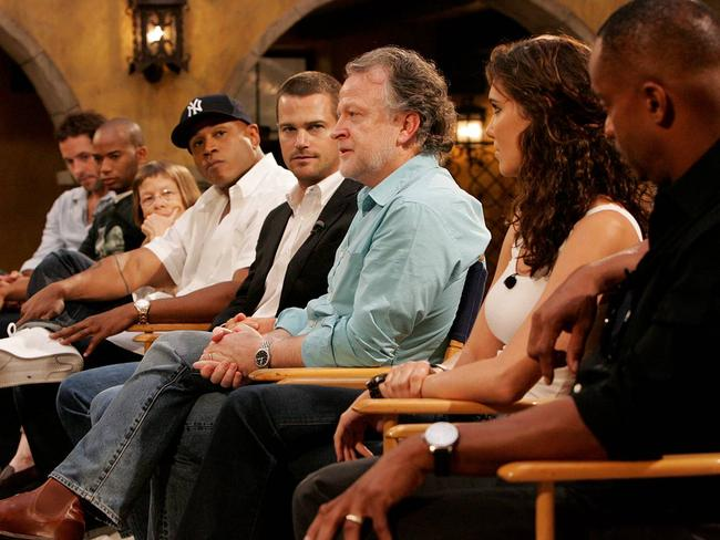NCIS: Los Angeles creator and showrunner Shane Brennan with the cast. Picture: CBS