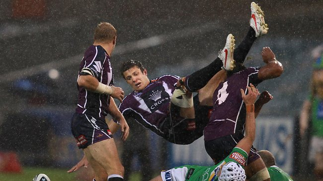 The season is over for Storm high flyer Matt Duffie. Picture: Gary Ramage