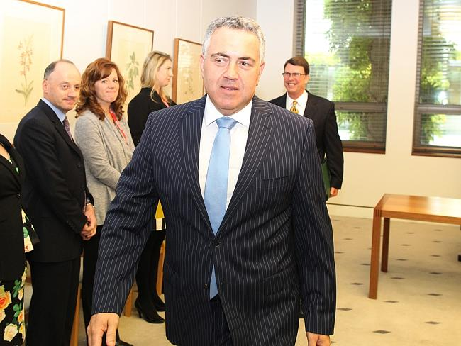 Walking the talk in a fortnight's time. Joe Hockey has flagged mega austerity.