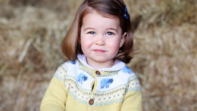 The Duke and Duchess of Cambridge's daughter can only be called Princess Charlotte due to a relatively recent law change. Picture: HRH The Duchess of Cambridge via Getty Images
