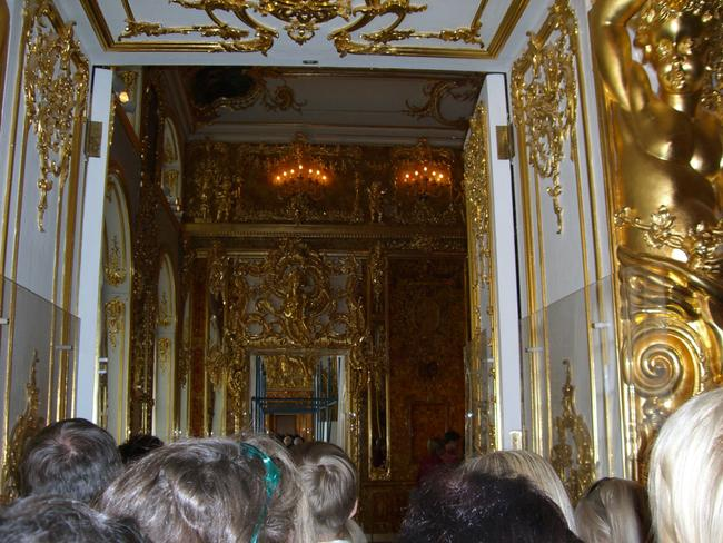 The entrance to the reconstructed Amber Room. Picture: Sergey