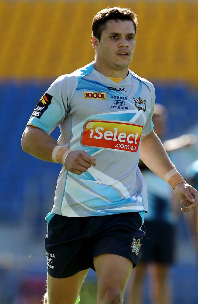 James Roberts at Gold Coast Titans training.