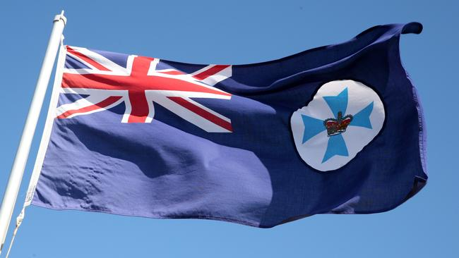 The state flag of Queensland. Picture: Richard Walker