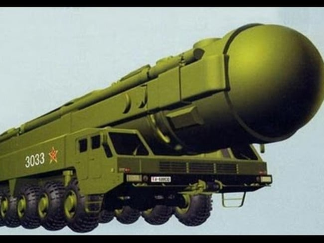 The Dongfeng-41 can reportedly carry to 10 nuclear warheads a distance of 12,000km in 30 minutes.