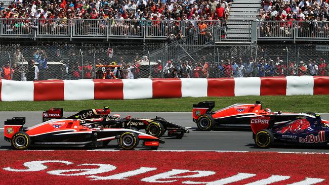 A few moments later, Marussia's Canadian GP would be all over.