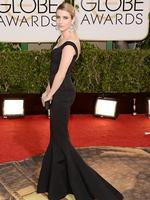 Golden Globes 2014 red carpet arrivals at the Beverly Hilton: American Horror Story's Emma Roberts. Picture: Getty