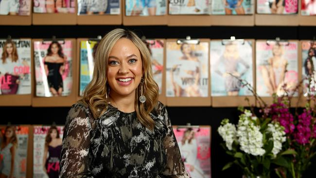 Cosmopolitan editor Keshnee Kemp at her office in Sydney. Picture: Hollie Adams