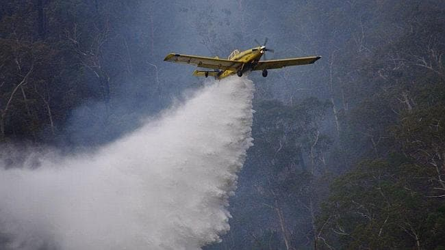 UNDER FIRE: Waterbomber fighting the Cherryville fire.