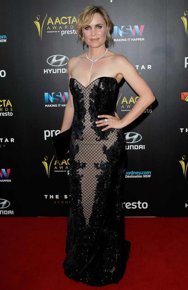 Radha Mitchell arrives ahead of the 5th AACTA Awards Presented by Presto at The Star on December 9, 2015 in Sydney, Australia. Picture: AAP