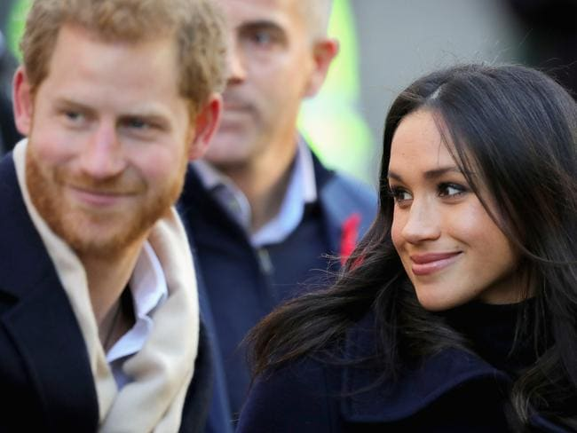 The couple looked relaxed and happy together in the streets of Nottingham. Picture: Christopher Furlong/Getty Images.