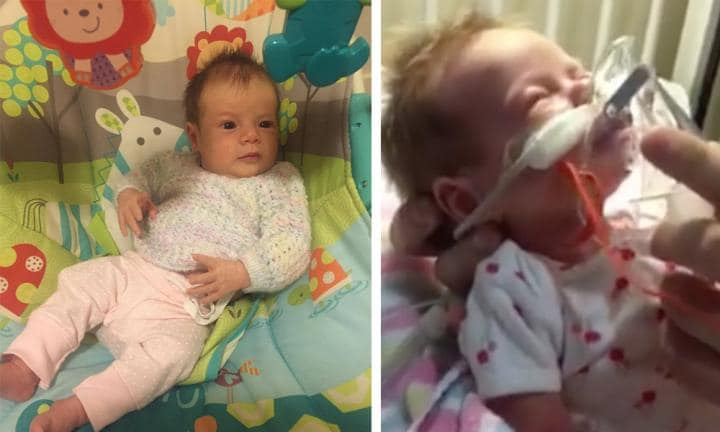 This is what whooping cough does to a five-week-old baby