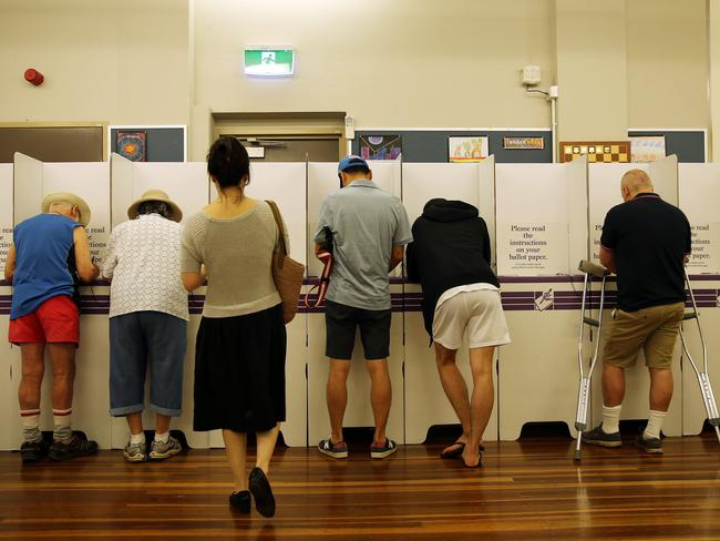 The polling booths for the Bennelong by-election have now closed. Picture: Tim Hunter.