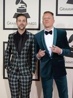 """Nominee For Best Rap Album """"The Heist"""" Macklemore & Ryan Lewis arrive on the red carpet during the 56th Grammy Awards at the Staples Center in Los Angeles, California. Picture: AFP"""