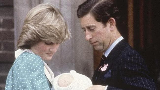 A doting Princess Diana and Prince Charles leave hospital with the newborn Prince William in June 1982.