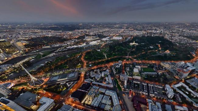 360 panoramas: birds-eye view of Melbourne. Incredible new interactive imagery showcases Australia's most stunning cities. Photo: lensaloft.com.au