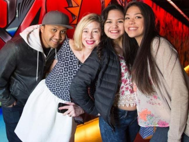 Vili Fualaau, Mary Kay Letourneau and daughters, Audrey and Georgia. Picture: Supplied