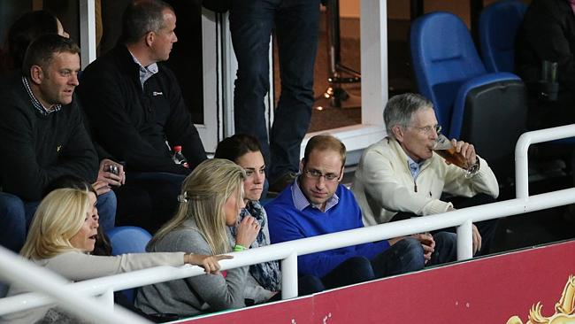 Will and Kate at the Waratah's game at Allianz Stadium. Picture: Attila Szilvasi.