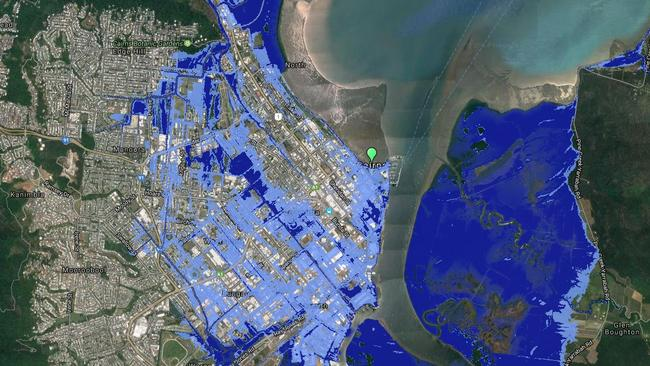 Much of Cairns would be inundated. Picture: Costal Risk Australia