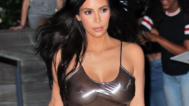 It probably doesn't help that Kim K walks around like this. Image: Splash News Australia