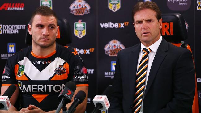 Robbie Farah and Mick Potter speak about the Tigers' off-field dramas. Pic: Mark Nolan/Getty Images