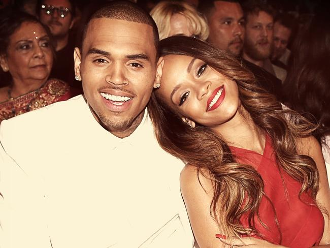 Didn't end well ... Chris Brown and Rihanna. Picture: Getty
