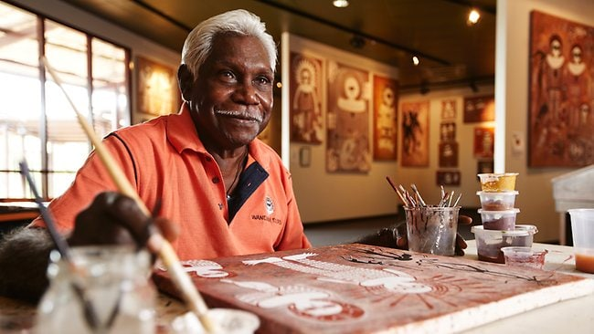 Traditional owner Danny Woolagoodja... one of the characters from a new tourism commercial in Western Australia. Picture: Supplied