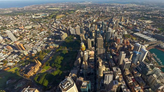 360 panoramas: birds-eye view of Sydney. Incredible new interactive imagery showcases Australia's most stunning cities. Photo: lensaloft.com.au