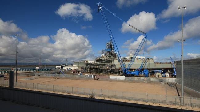 Building spree ... the plan will see a stack of new ships built at yards in Melbourne and Adelaide. Picture supplied.