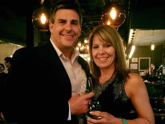 Jennifer Riordan and her husband Mike. Photo: Supplied