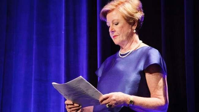 Gillian Triggs wearing her pearls for us