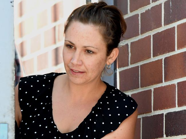 Karlie Tyrell previously pleaded guilty to assaulting an officer and using offensive language. Picture: Peter Rae/AAP