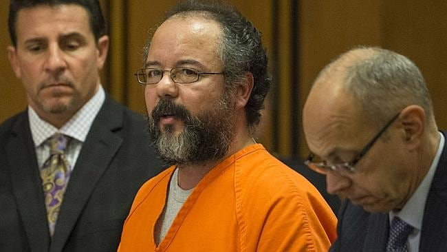 Sick... Ariel Castro, centre, killed himself in prison. Picture: Angelo Merendino/Getty I