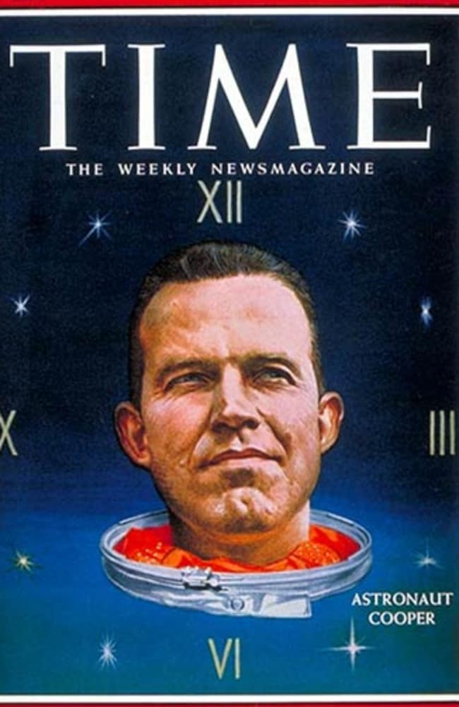 Gordon Cooper on the front page of Time magazine.