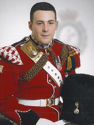 Target ... Soldier Lee Rigby who was killed in a public display of defiance against the UK government. Source: MOD