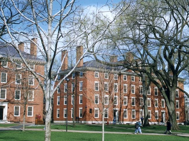Harvard University only accepts 5.9 per cent of its applicants.