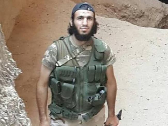Mohamed Elomar (above) in the Middle East where he fought and then died for the terror group ISIS.