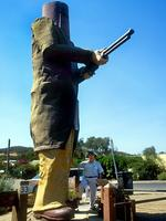 <p><br /> <strong>THE BIG NED<br /> Glenwrowan, Victoria</strong><br /> <br /> Not content with the Aussie legend, the Victorian tourist town of Glenrowan decided to build a giant Ned Kelly. Ned arrived from Sydney in 1992, and stands at six metres high.<br /> <br /> Picture: Glen Rowan</p>