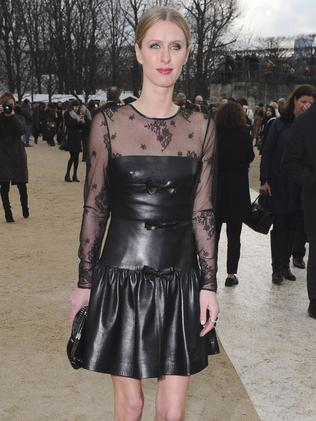 Fashion forward ... Nicky Hilton pictured arriving at Paris Fashion week. Picture: AP Photo