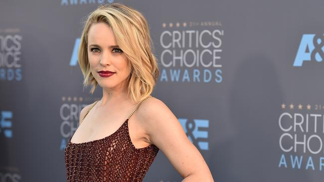 Hollywood beauty ... Rachel McAdams dazzles on the red carpet.