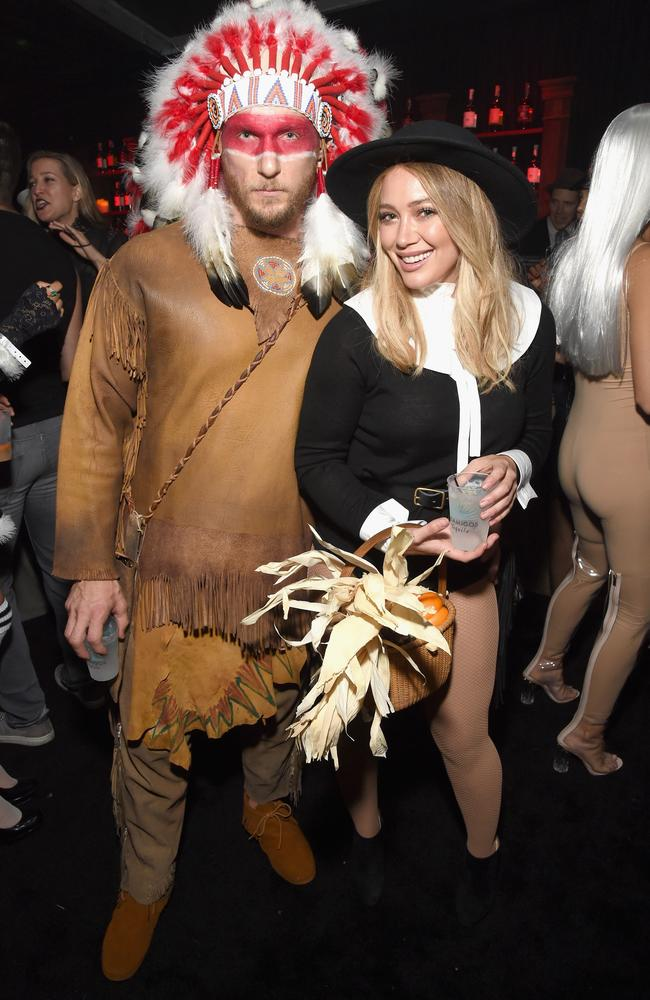 Jason Walsh and Hilary Duff attend the Casamigos party on Friday night.