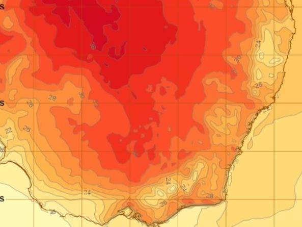 Weather map of Sydney: Source: Bom.