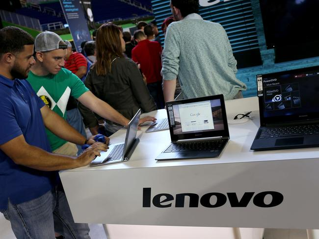 Chinese tech brand Lenovo overtook HP last year as the world's top selling PC maker.