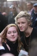 Teen heart throb Cody Simpson performs at Ch-7 Sunrise show this morning.Lots of adoring teenage fans waited for him outside Picture: Ross Schultz