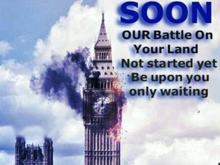 Extremists are sharing offensive memes online gloating about the London terror attacks. Picture: Supplied